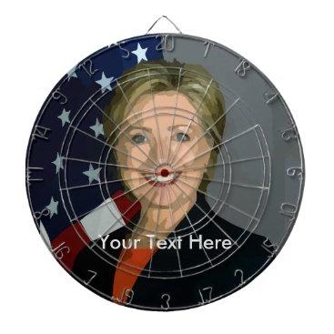Hillary Clinton Custom Metal Cage Dartboard