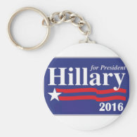Hillary Clinton for President 2016 Keychain