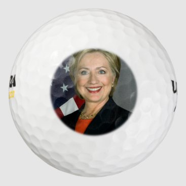 Hillary Clinton Official Portrait Golf Balls