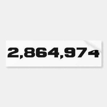 Hillary Clinton's Margin Of Victory: 2,864,974 Bumper Sticker