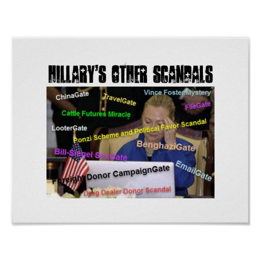 HILLARY'S OTHER SCANDALS - Poster, Tshirt etc Poster