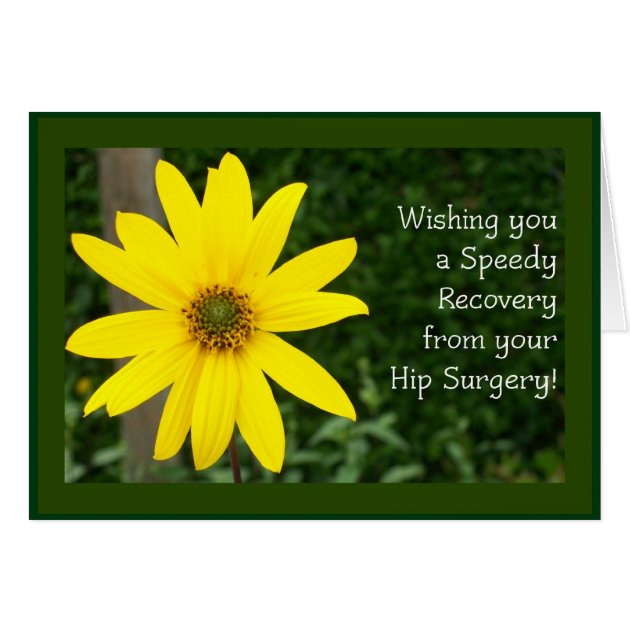 Hip Surgery Speedy Recovery Card Zazzle