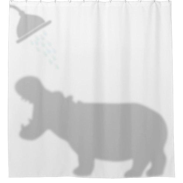 hippo shadow silhouette shadow buddies in shower shower curtain zazzle com