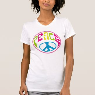Hippy Peace Sign T Shirts
