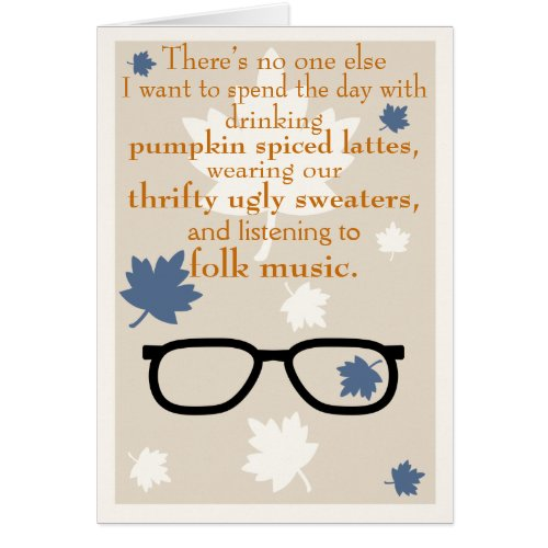 Hipster Autumn Greeting Card
