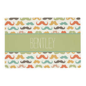 Hipster Design Personalized Pet Placemat Laminated Place Mat