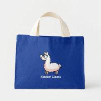 Hipster Llama Mini Tote Bag