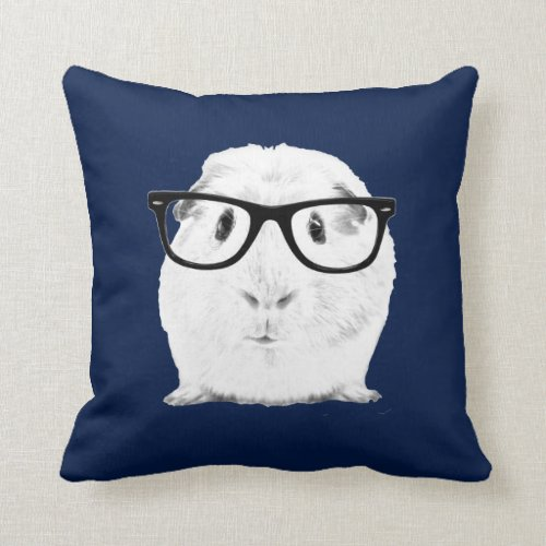 Hipster Pigster Throw Pillow