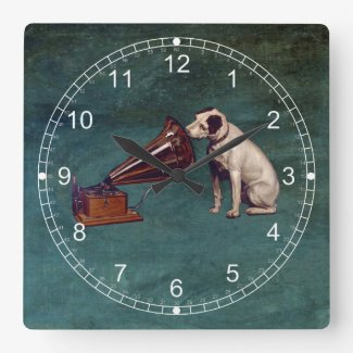 His Master's Voice Father's Day Wall Clock