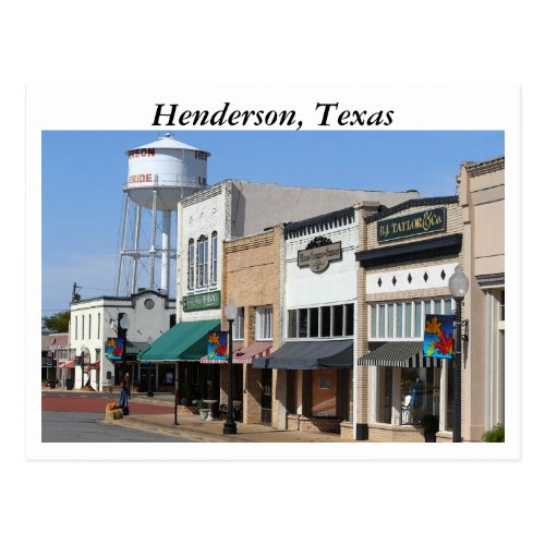 Historic Henderson, Texas Postcard