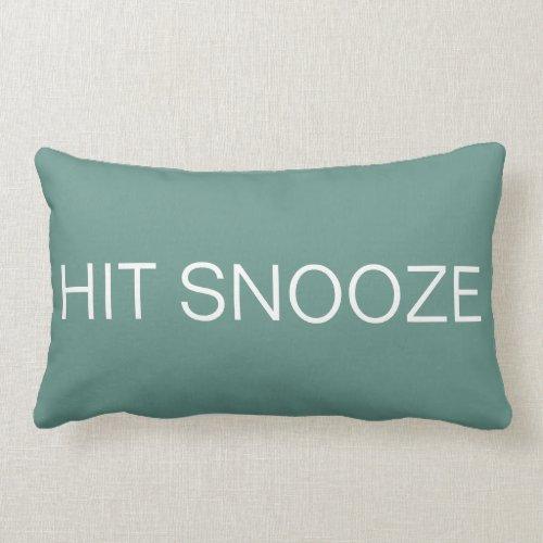 Hit Snooze - Beryl Green Pillow