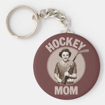 Hockey Mom dark keychain