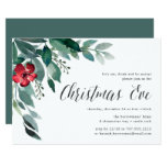 Holiday Blossoms | Christmas Eve Dinner Invitation