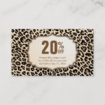 Holiday Discount Coupon Card Stylish Leopard Print