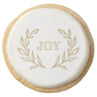Holiday Laurels | Holiday Cookies Round Premium Shortbread Cookie