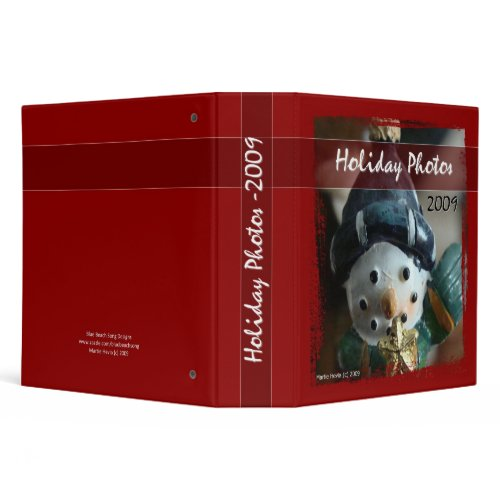 Holiday Photos 2009 - Snowman Binder binder