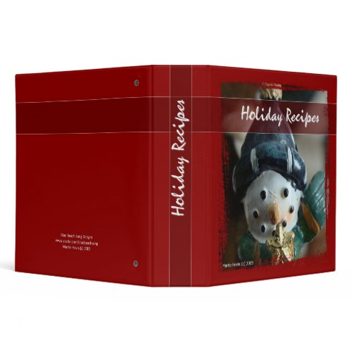 Holiday Recipes - Snowman Binder binder