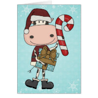 Holiday Season Gifts - Cow Thank You Card