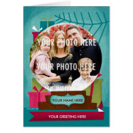 Holiday Snow Globe : A Custom Photo Holiday Card