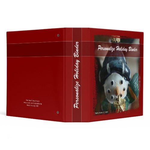 Holiday Snowman Binder - Personalize It binder