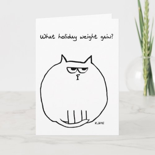 Holiday Weight Gain - Angry Cat is now Fat Cat