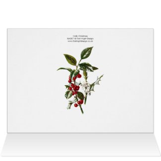 Holly Christmas Greeting Card