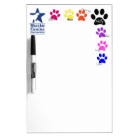 Holly Half Dozen paw print dry erase Dry Erase Whiteboards