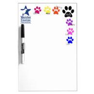 Holly Half Dozen paw print dry erase Dry Erase Whiteboards
