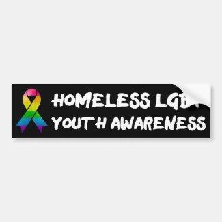 Homeless LGBT Youth Awareness Car Bumper Sticker