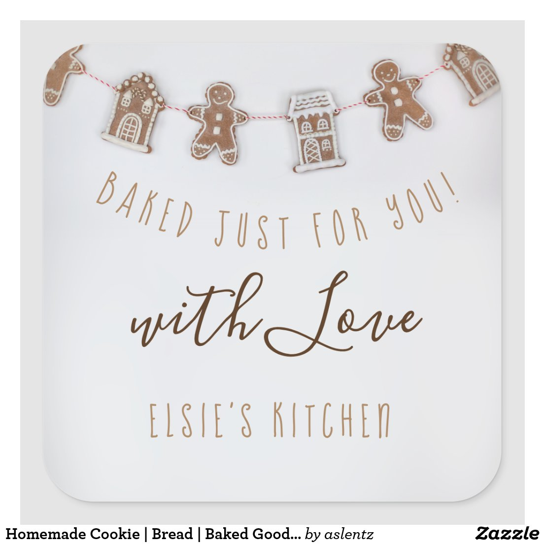 Homemade Cookie | Bread | Baked Goods label