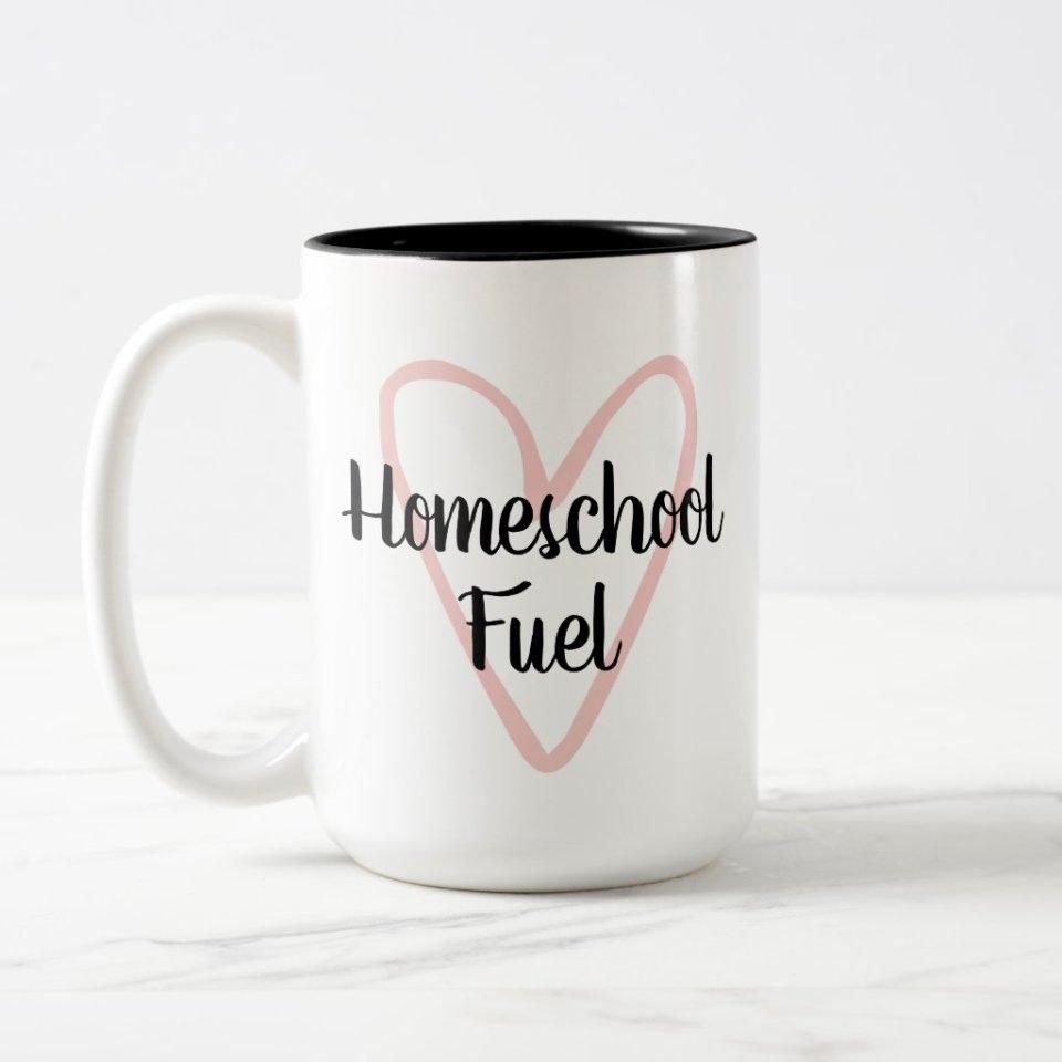 Homeschool Fuel Two-Tone Coffee Mug