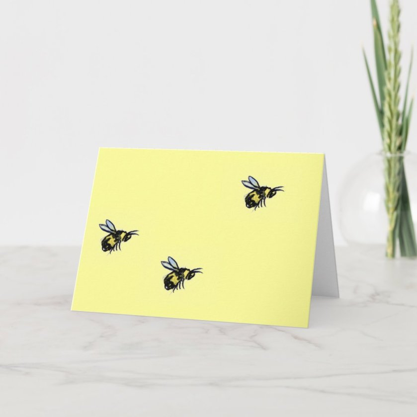 Honey Bee Art Greeting or Note Cards