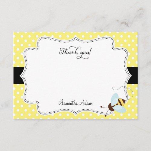 Honey Bee Thank You Card Polkadot