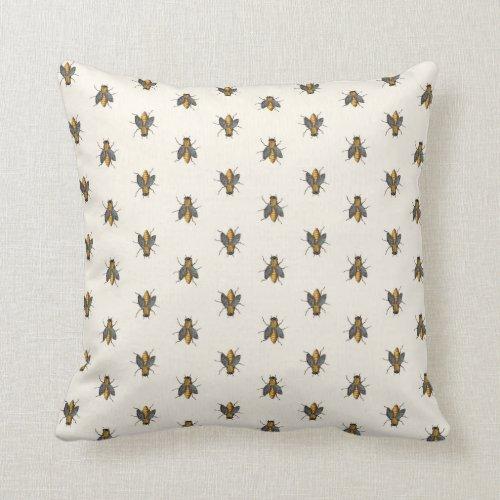Honey Bees Parade Pattern Throw Pillow