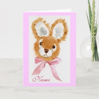 """Honey Bunny"" Happy Birthday! cuddly toy Card"