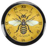 Honeybee Honeycomb Bee Pretty Personalized Fish Tank Clock