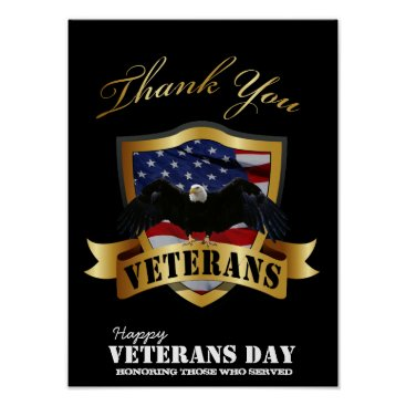 Honoring those who served.  Happy Veterans Day Poster