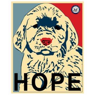 Hope puppy shirt