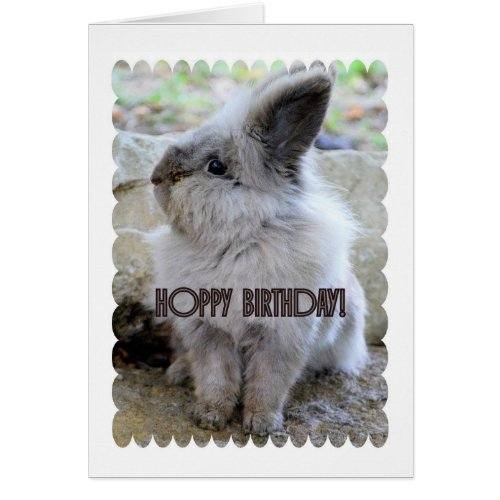 Hoppy Birthday Bunny Greeting Card
