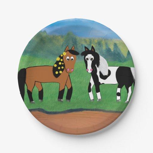 Horse Birthday Plate