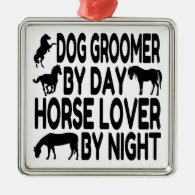 Horse Lover Dog Groomer Christmas Tree Ornament