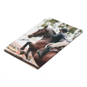 Horse & Rider Hunter Jumper Equestrian Horse Show iPad Pro Cover