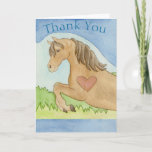 Sweet Horse & Heart Thank You Card