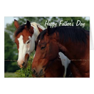 Horses Photograph Happy Father's Day Greeting Cards