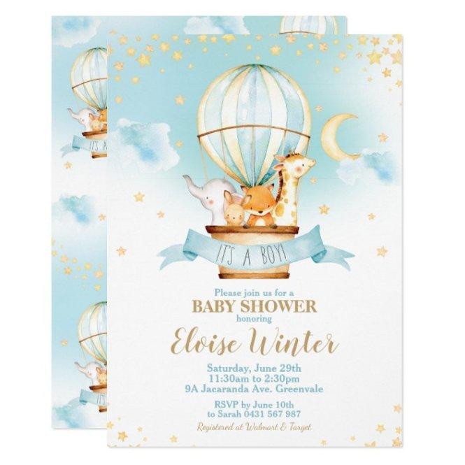Hot Air Balloon Baby Shower Jungle