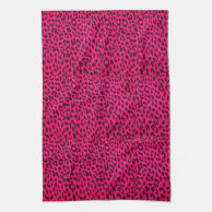 Hot Pink Leopard Animal Print Towel