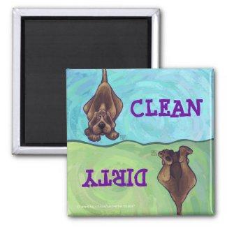 Hound Dog Clean Dirty Dishwasher Magnet