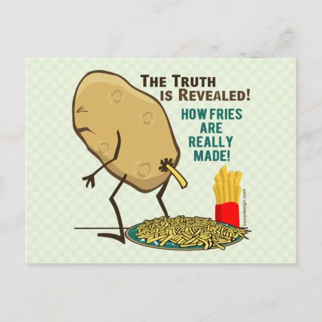 How Fries Are Really Made Postcard