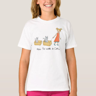 How to Walk a Cat Funny T-Shirt