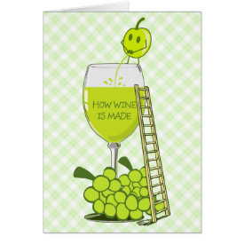 How Wine is Made Funny Illustration Card